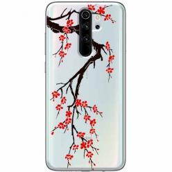 Etui na Xiaomi Redmi Note 8 Pro - Krzew kwitnącej wiśni.