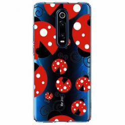 Etui na Xiaomi Mi 9T - Czerwone  biedronki.