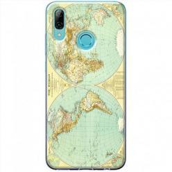 Etui na Huawei P Smart Z - Mapa świata