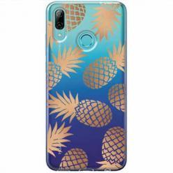 Etui na Huawei P Smart Z - Złote ananasy.