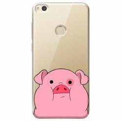 Etui na Huawei P9 Lite 2017 - Słodka różowa świnka.