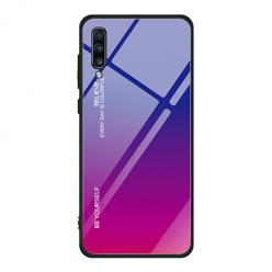 Etui na telefon Samsung Galaxy A50 - Ombre Glass - Niebiesko/Różowy.