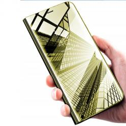 Etui na Xiaomi Redmi Note 8T - Flip Clear View z klapką - Złoty