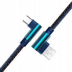 Kabel USB Typ-C Szybkie ładowanie  Angle 90° 2m - Jeans