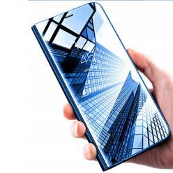 Etui na Huawei Nova 5T - Flip Clear View z klapką - Niebieski