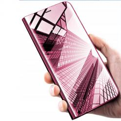Etui na Xiaomi Mi 9 Lite - Flip Clear View z klapką - Różowy
