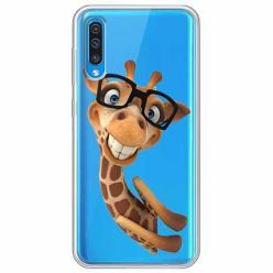 Etui na Samsung Galaxy A30s - Żyrafa w okularach.