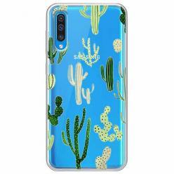 Etui na Samsung Galaxy A30s - Kaktusowy ogród.
