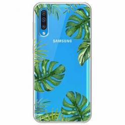 Etui na Samsung Galaxy A30s - Zielone liście palmowca
