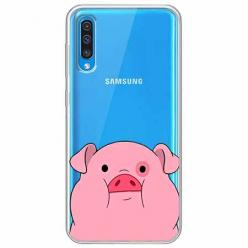 Etui na Samsung Galaxy A30s - Słodka różowa świnka.