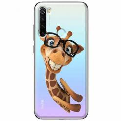 Etui na Xiaomi Redmi Note 8T - Żyrafa w okularach.