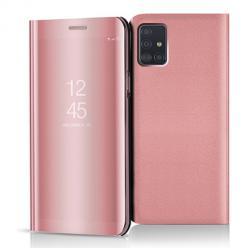 Etui na Samsung Galaxy A51 - Flip Clear View z klapką - Różowy.
