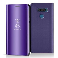 Etui na LG K50s - Flip Clear View z klapką - Fioletowy.