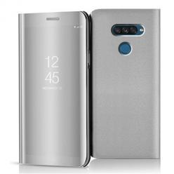Etui na LG K50s - Flip Clear View z klapką - Srebrny.